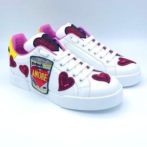 Dolce & Gabbana Shoes - NIB $980 DOLCE & GABBANA Heart Amore Sneakers